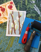 "Using Winterbourne's gardens as inspiration, create your own beautiful lino prints.  Learn how to design your image, cut a lino block and print a two or three colour print onto paper using the reduction method.All materials are provided. Please bring an apron or wear old clothes.Pre-booking is essential.  Tickets can be purchased in the Winterbourne shop or via the Book Now button on this page.Sarah Moss is Artist in Residence at Winterbourne House and Garden.  Click here to see Sarah's blog.""Brilliant tutor and great explanation of the technique"" – participant at Sarah's Reduction Cut Lino workshop at Winterbourne in April 2017.Our courses are suitable for 18 years or above."