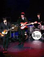 "Re-live the greatest hits of the Fab Four, at our Beatles tribute night. Beatlemania are regarded as one of the UK's leading Beatles tribute acts, playing to sell-out audiences throughout the world and regularly appearing on radio and television.Covering classic hits including 'She Loves You', 'A Hard Day's Night', 'Help!', 'Penny Lane' and 'Get Back';  Beatlemania dress in stage costumes to represent the different periods of their career – from the mop top years with their grey suits, to the late 60s ""summer of love"" era with the psychedelic Sergeant Pepper suits."