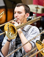 Stuart Birnie Brass Band director Ben Siebertz-Willett, Emma Brown Saxophone Choir conductorsThe University of Birmingham's Brass Band teams up with the Saxophone Choir and aims to show you a good time. Join the two ensembles on a musical journey through the lake district, music from Broadway and the opera, a nod to Monty Python, and much more.